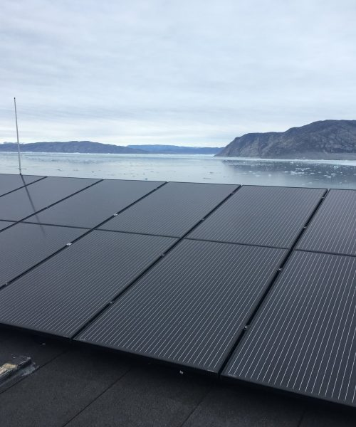 Beautiful Solar panels that blend in harmony with the location.