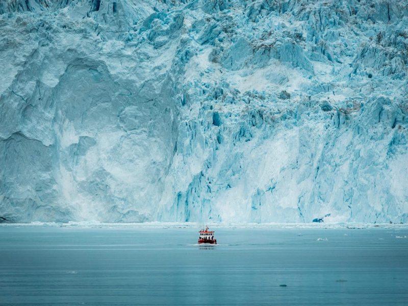 Famous Eqi Glacier in Greenland